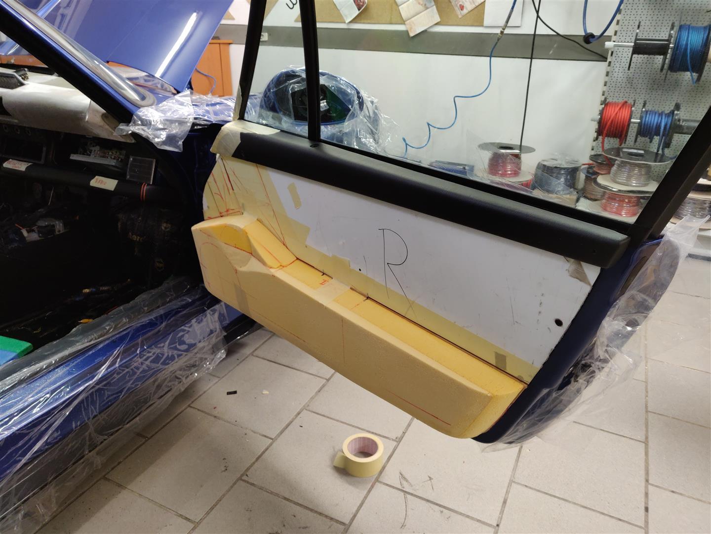 Der Prototyp des Türpaneels aus Schaumstoff.