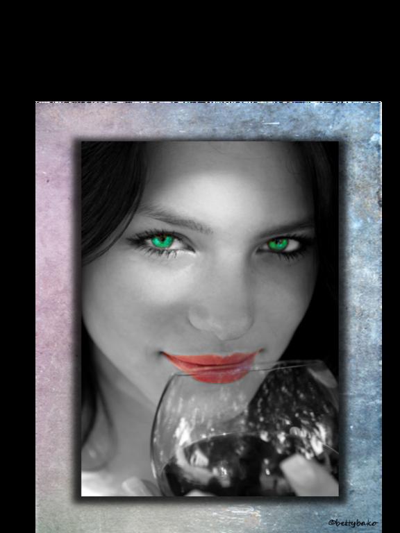Weintrinkerin