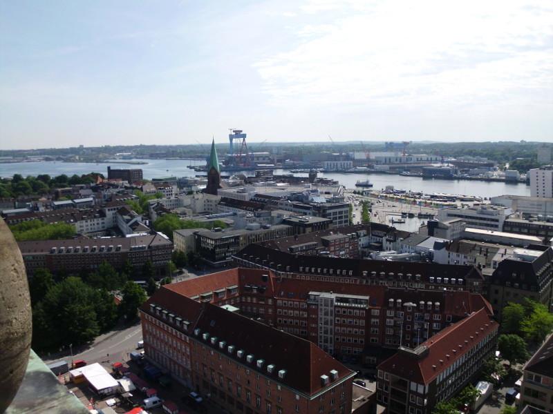 Ausblick vom Kieler Rathausturm.