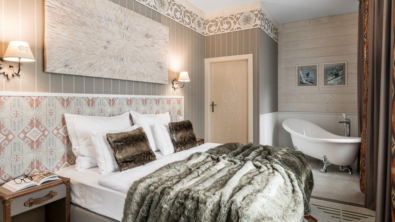 Top-ausgestattete Zimmer, ebenfalls im Retro-Stil