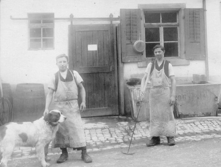 Die Käser Max Isenegger und Ernst Siegenthaler