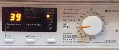 Това е програмата, която ползваме на нашата пералня.