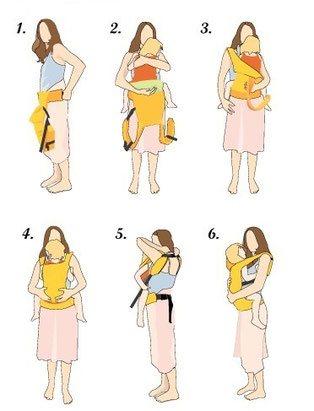 Бебе в раница - носене отпред