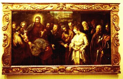 J.Tintoretto und Bottega, St.Mus.for Kunst Kopenhagen, 1996 mit paduanischem Rahmen