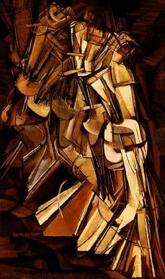 Marcel Duchamp, Nu descendant d'un escalier (Nr.2), 1912, Öl/Lw 152x93,3, Philadelphia Mus.of Art
