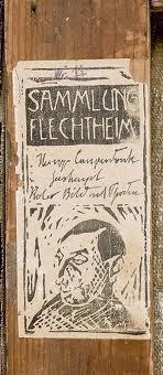 """gefälschte """"Flechtheim""""-Etikette (Campendonk)"""