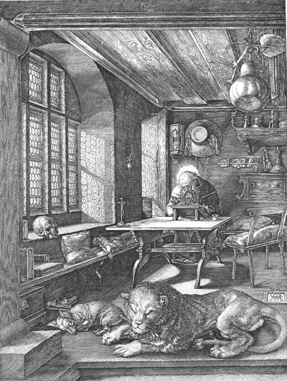 Albrecht Dürer (1471-1528), Hieronymus im Gehäus 1514