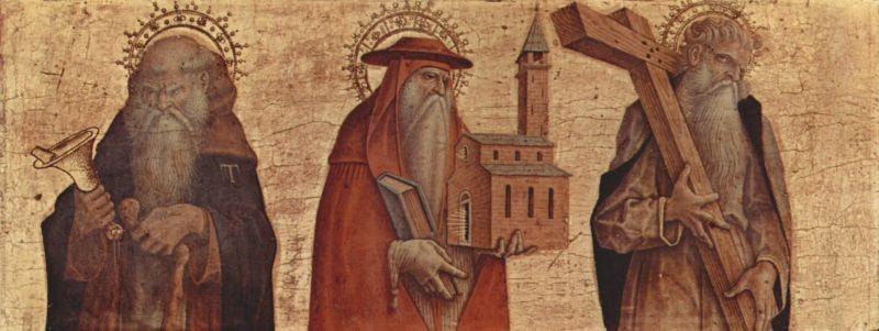 Carlo Crivelli (1430/5-1495/1500), Altarpredella aus Camerino um 1482, Mailand Brera