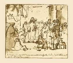 """Rembrandt München Staatl.Graph.Samml. Zeichnung """"1659"""""""