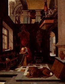 Hendrik Steenwijk (1550-1603), Hieronymus, Öl/Metall, Gallerie Koller