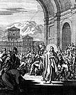"""Caspar Luiken (1672-1708) """"Historiae celebriores Test.Iconibus. repr."""" 1712; Kupfer"""