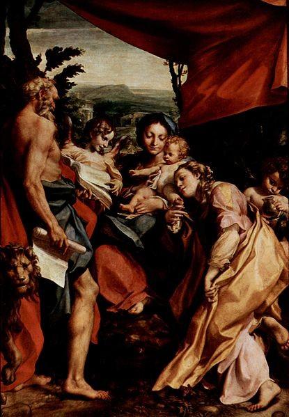 Correggio (1489-1534), Madonna di San Girolamo, ca.1523, Parma Duomo (Mus.N.)