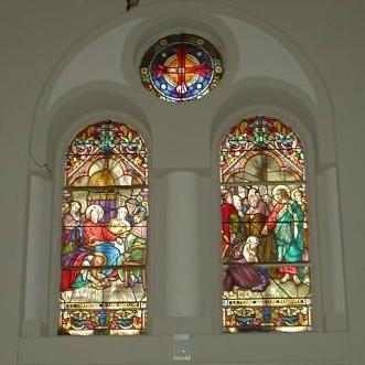 Menton, Eglise du Sacre Coeur (2.Westfenster v.l.) 1910-35