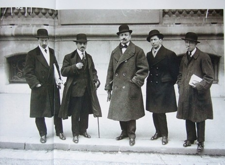 Futuristen in Paris 1912: Russolo, Carrà, Marinetti, Boccioni, Severini
