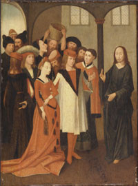 Kopie nach Hieronymus Bosch(1475-80)  Holztafel 82x54,8cm, Philadelphia ,M.of Art