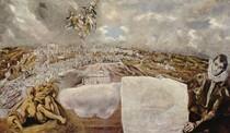 El Greco,Stadtansicht und Plan Toledos Lw.132x228cm, Toledo, Greco-Museum