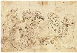 Donato Creti (1671-1749) Federzeichnung 12x16,5cm; 2006 Kunsthandel Luzern