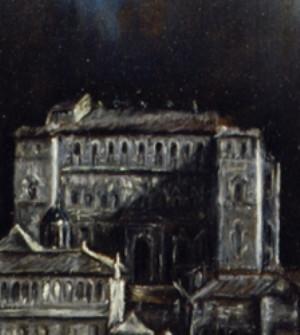 Detail: Alcazarfrontseite mit Säulenportal 1551