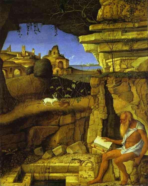 Giovanni Bellini (1430-1510), San Girolamo nel deserto ca 1500, Washington, National Gallery