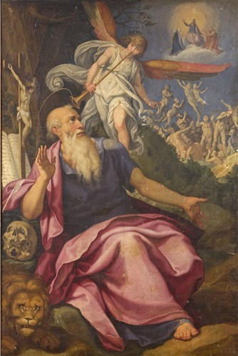 Pasquale Cati (1550-1621), San Girolamo in Vision des Weltgerichts um 1600