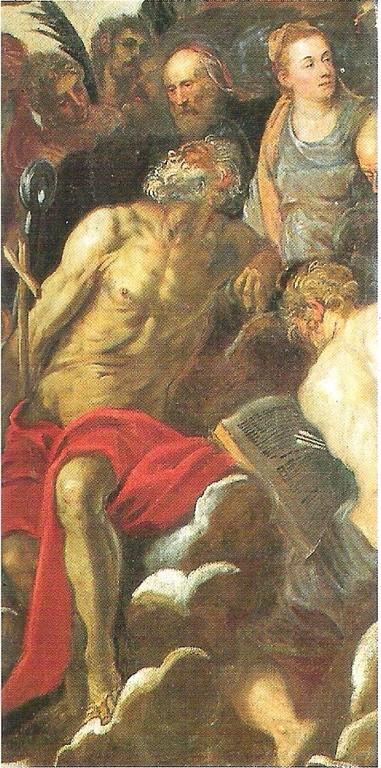 Tintoretto, Giudizio 1562, Madonna dell'Orto, Detail: Hieronymus unter den Stiftern