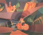 Fillia (Luigi Colombo 1904-1946), bicicletta (fusione di paesaggio, idolo meccanico) 1924