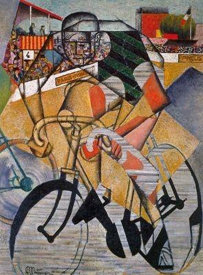 Jean Metzinger, Au Vélodrome 1912,Öl/Sand/Collage130,4x97,1cm, Venedig, Guggenheincoll.