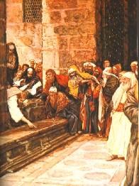 James Tissot(Nantes1836-1902 Buillons) Jesus schreibt..., Aquarell 1886-96