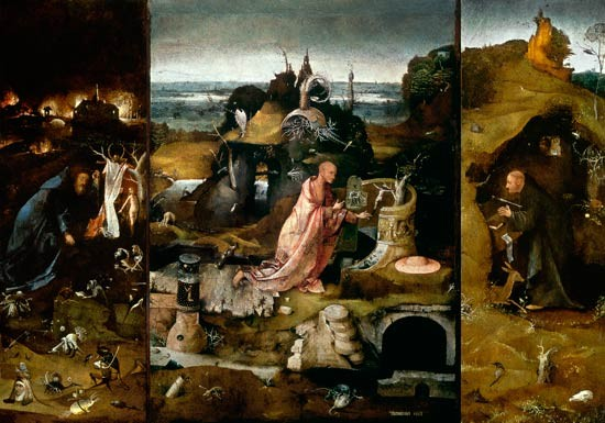 Hieronymus Bosch (1450-1516), Eremitentriptichon (Antonius, Hieronymus, Aegidius) 1500-05, Venedig, Palazzo Ducale