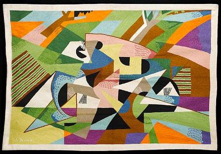 Gina Severini (nach Gino Severini 1956) 1977-78 Woll- Knüpfarbeit 145x210cm (Christies 2010)