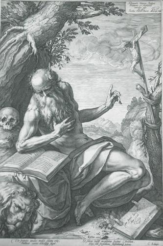 Hendrick Goltzius (1558-1617), Hieronymus-Stich ca. 1595