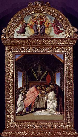 Sandro Botticelli (1444-1510), La morte di San Girolamo ca. 1490, N.Y.Metropolitan Mus.