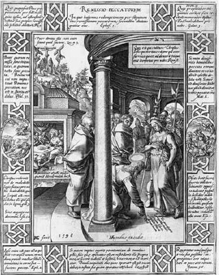 Hendrick Goltzius, Remissio Peccatorum 1598 Kupfer 23,5x18,6cm Met.Mus.NY(aus Engel)