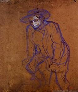 Toulouse Lautrec (1864-1901), Aristide Briand à bicyclette 1892, carton 74,5x65cm