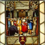 Niklaus Manuel Deutsch,(Bern 1484-1530) Glasgemälde1527 (Klaus Funk?) privat
