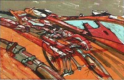 Claude Darotchetche (1933-2008), coureur cycliste lithographie