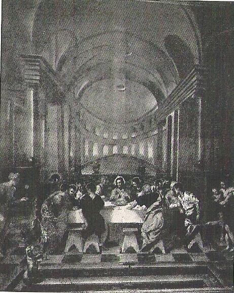Ultima Cena, San Marcuola vor der redimensionierung 1936 (Fot.Fiorentini)