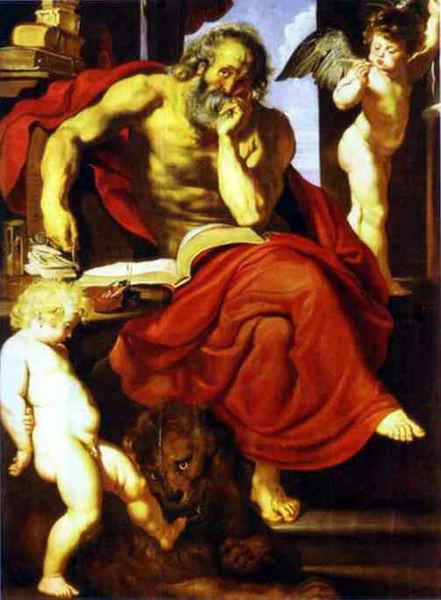 Peter Paul Rubens (1577-1640) Hieronymus 1608-09, Potsdam Sansouci