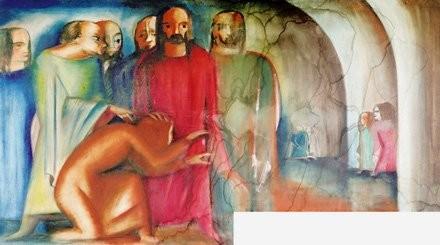 Karl Völker (1889-1962) Deckenmalerei Schmirma 1921
