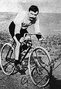 """Gustave Garrigou (1884-1963) """"ewiger Zweiter"""",  während Paris-Roubaix 1911"""