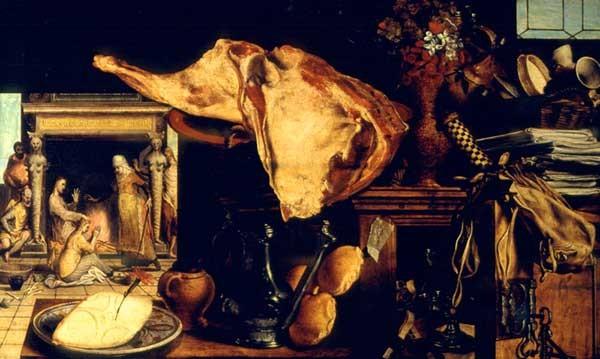 Pieter Aertsen (1508-1575) J. bei Maria und Martha 1552 Wien KHM Öl/Holz