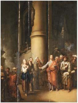 """""""scuola fiamminga""""(Dietrich?) XVIII Öl/Holz 80x60cm (Cambi casa d'aste Genova, Feb.2007)"""