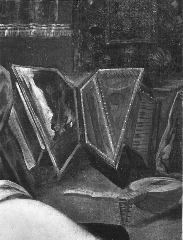 Tarquin und Lukrezia (privat), Detail des Virginals