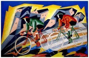 Fabrizio Marconi (1875-1956)  ciclisti futuristi