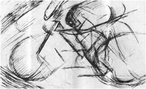 Umberto Boccioni (1882-1916) studio per un ciclista 1913