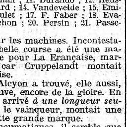 Montag 8.4.1912 resultate des Paris-Roubaix in der Tagespresse