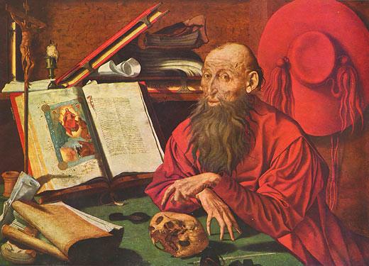 Marinus Claes v. Reymerswaele (1493-1567), Hieronymus 1541, Madrid Prado