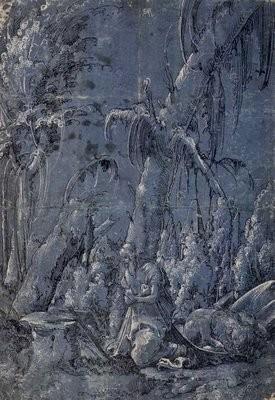 Albrecht Altdorfer (1480-1538), Hieronymus im Wald 1510-12, London Brit.Mus.