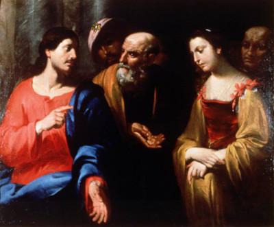 Orazio de'Ferrari (1605-1657 Genua), Adultera, Lw., Kunsthandel