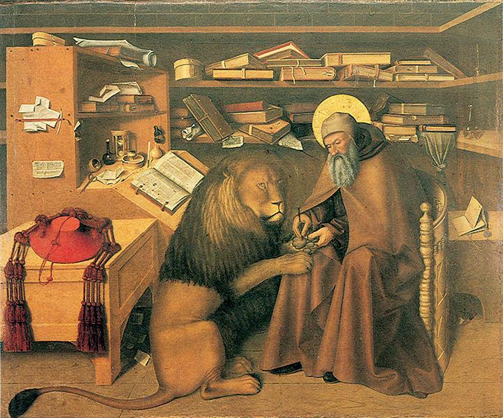 Niccolo Antonio Colantonio (~1440-1470), Hieronymus, Napoli Capodimonte